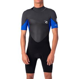 Rip Curl Omega SS Back Zip Spring Suit Men, negro/azul